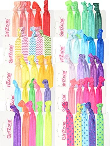 GirlZone Geschenke für Mädchen - Haargummi Set Mädchen - Zopfgummis für Mädchen auch als Stoffarmband geeignet Pferdeschwanz Geschenk für Kinder 4-12 Jahre Headbands