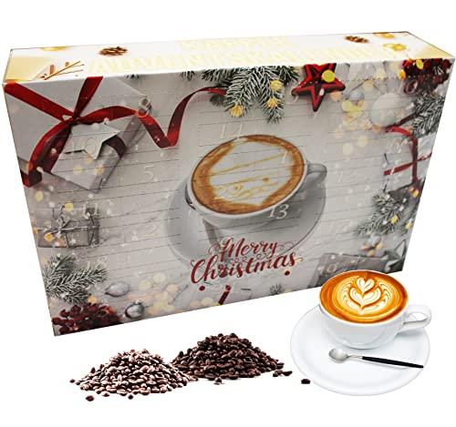 """C&T Kaffee Adventskalender 2021 """"Klassik II"""" (Gold, Ganze Bohnen)   24 Päckchen à 20g hochwertigem Kaffee aus aller Welt   Exklusiver Weihnachts-Kalender"""