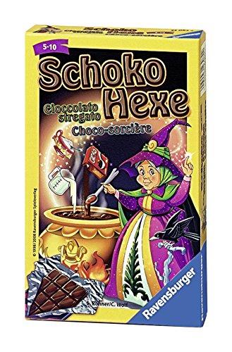 Ravensburger 23082 - Schoko Hexe , Mitbringspiel für 2-6 Spieler, Kartenspiel ab 6 Jahren, kompaktes Format, Reisespiel