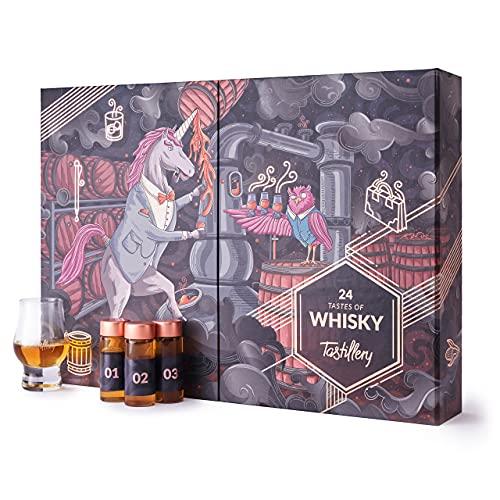 Tastillery Whisky Adventskalender   inkl. 2 x Tasting Gläser und Magazin mit Verkostungsanleitung und Cocktailrezepten