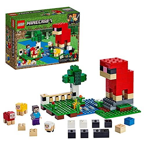 Lego 21153 Minecraft Die Schaffarm, Bauset mit Steve und Schaffiguren