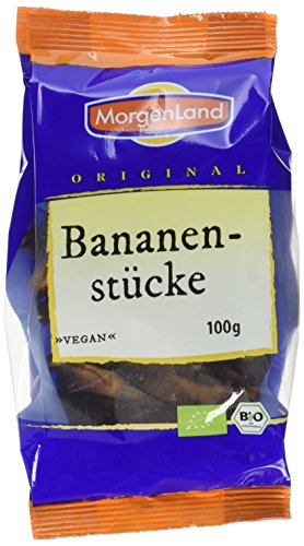 MorgenLand Bio-Bananenstücke, 6er Pack (6 x 100 g)