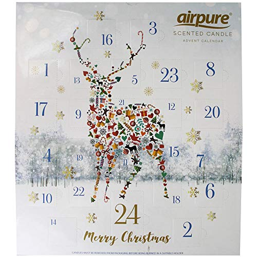 Pure Air Duftender Adventskalender mit Rentier Hirsch – lustiger Countdown bis Weihnachten für Erwachsene