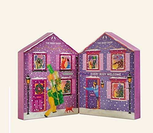 The Body Shop Beauty Adventskalender 2020 für die Frau, Beautykalender Wert 150 €, 24 Damen Kosmetik Produkte, TheBodyShop Advent Calendar