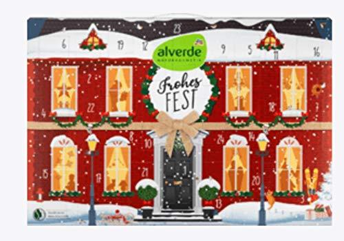 Alverde Frauen Kosmetik Adventskalender 2020, Beauty Adventkalender Wert 90 €, Naturkosmetik Pflegeprodukte für die Frau, Weihnachtskalender