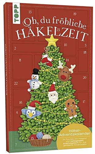 Adventskalender Oh, du fröhliche Häkelzeit 2019: Kreativer Adventskalender mit Garnen, Häkelnadeln, Accessoires und beiliegendem Anleitungsbuch für selbstgehäkelte Weihnachtsdeko