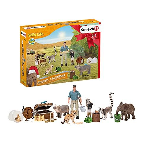 SCHLEICH 98272 Spielset - Adventskalender Wild Life 2021 (Wild Life), Mix