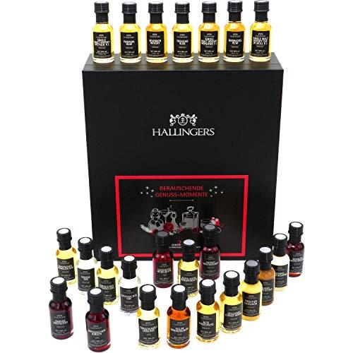 Hallingers Premium Spirituosen und Likör Adventskalender 2020 (720ml) - Berauschende Genussmomente - Whisky, Rum, Gin, Spirituose & Likör (Genussbox) - zu Weihnachten Adventskalender