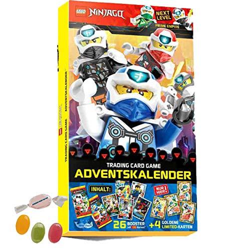 Blue Ocean Lego® Ninjago™ Serie 5 Next Level -1x Adventskalender inkl. 4X LE und 26 Booster Trading Cards zusätzlich erhalten Sie 1 x Fruchtmix Sticker-und-co Bonbon