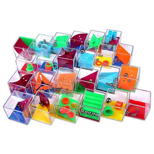Schramm® 24 Stück Geduldsspiele Mini Denkspiel Knobelspiel für Kinder Geduld Spiel Mitgebsel Kindergeburtstag Geduldsspiel Kinder Geschicklichkeitsspiel