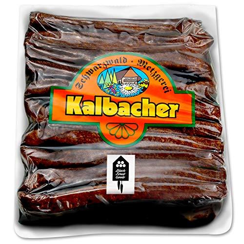 Schwarzwälder Landjäger - 10 Paar - Kalbacher Rohwürste - Hoher Anteil mageres Rindfleisch - Geringer Fettanteil - Atmosphärenpackung - Hergestellt im Schwarzwald