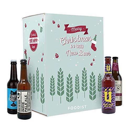 Foodist Adventskalender Craft Beer mit 24 ausgewählten Bieren (24 x 0.33 l)