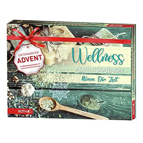 ROTH Wellness-Adventskalender Nimm dir Zeit 2021 gefüllt mit Wellnessartikeln, Entspannungs-Kalender zur Vorweihnachtszeit