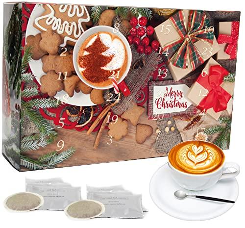 C&T Kaffee Adventskalender 2021 (Pads)   24 Bio Kaffeepads & fair gehandelte Raritäten + Überraschung im Kalender   Weihnachtskalender Fairtrade