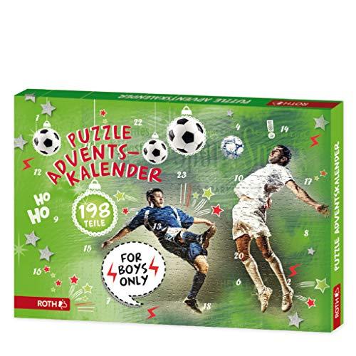 ROTH Puzzle-Adventskalender für Jungen und Fußball-Fans