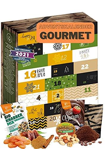 Gourmet Adventskalender I Weihnachtskalender mit 24 exclusiven Feinkostartikel I Ausgefallener köstliches Geschenkset für Erwachsene I Adventskalender 2021 Gourmet Geschenkset Eltern Männer Frauen