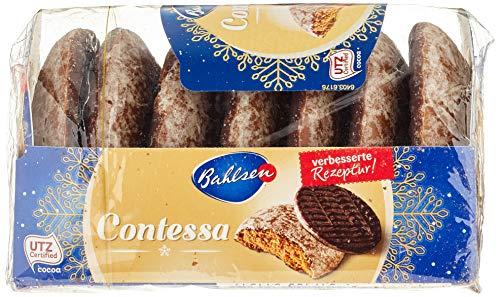 Bahlsen Contessa würzige runde Lebkuchen mit Schokoboden – kleiner Snack für zwischendurch, 200g