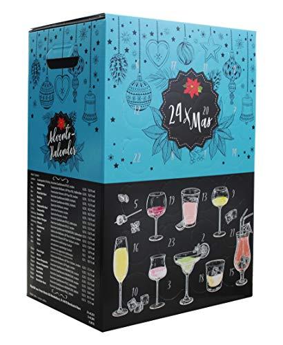 Wein Adventskalender - Probierpaket mit 24 Weinen aus Deutschland, Spanien, Italien und Frankreich - Ideal als Geschenk (24 x 0.2/ 0.25 l)