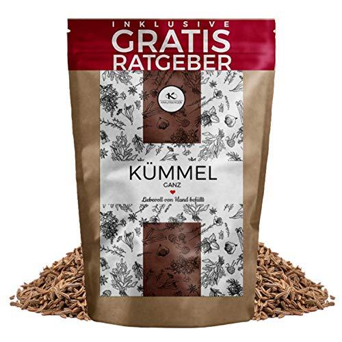 Kümmel Kümmelsamen ganz 250g I aromatisches Brotgewürz inkl gratis Ratgeber I Würzige Kümmelkörner als Gewürz für Kümmeltee - Herstellung von Kümmelöl