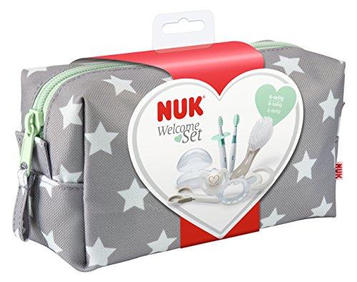 NUK Babypflege Welcome Set, perfekte Erstausstattung für Neugeborene, 7 NUK Produkte in einer schönen Tasche