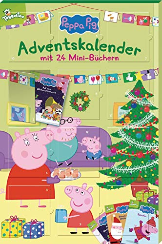 Peppa Pig Adventskalender: mit 24 Mini-Büchern