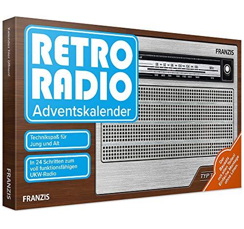 FRANZIS Retro Radio Adventskalender 2020 | In 24 Schritten zum eigenen UKW Radio | ohne Löten | Ab 14 Jahren: Bauen Sie in 24 Schritten Ihr eigenes UKW-Radio! Einfache Montage ohne Lten