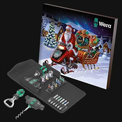 Wera Adventskalender | 24 Teilig | mit Textil-Box | Profi-Qualität | Advent | Weihnachten | Werkzeug | Bitsätze | Nützliches Zubehör | Schrauben