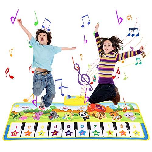 GUANKANGC Klaviermatte für Kinder im Alter von, für Mädchen und Jungen, Touch-Spielmatten mit Tastatur, Musik-Teppichmatte, Geburtstagsspielzeug für 2–9 Jahre, Geschenke für alte Kleinkinder