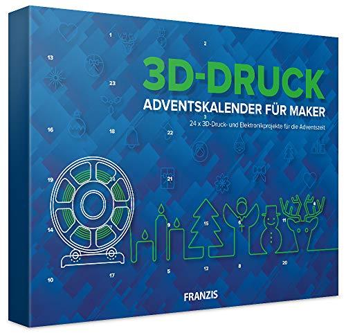 FRANZIS 3D-Druck Adventskalender für Maker 2020   24 Adventsprojekte zu 3D Druck und Elektronik   Ab 14 Jahren