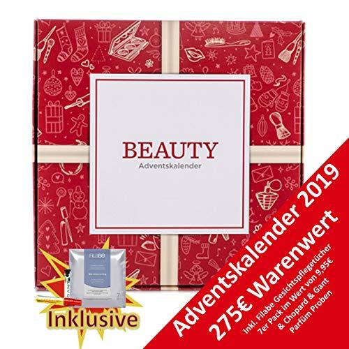 Kosmetik Beauty Adventskalender 2019 für Frauen Advent Kalender für Frau, Beautykalender, Wert 275 €, Hochwertiger Kosmetikkalender mit 24 Damen Beauty Produkten, Frauenkalender Damenkalender