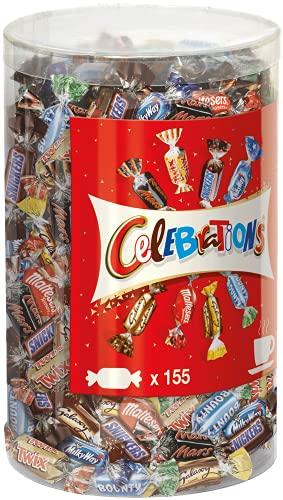 Celebrations Blisterbox   Mini-Schokoriegel Mix   155 Pralinen in einer Box (1 x 1,435 kg)