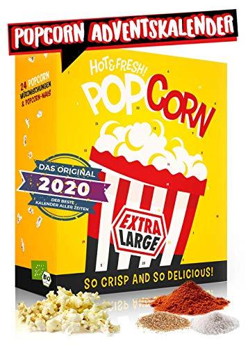 Popcorn Adventskalender 2020 I verschiedene Geschmacksrichtungen Popcorn probieren I Adventskalender für alle Film- & Serien Junkies I perfekt für die Adventszeit