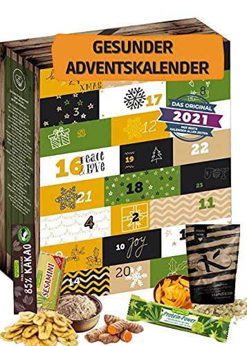Adventskalender 2021 Gesund I GESUNDER ADVENTSKALENDER I Gesunde Snacks in der Weihnachtszeit I Adventskalender für bewusste Menschen Sportler I gesunde Ernährung Adventszeit