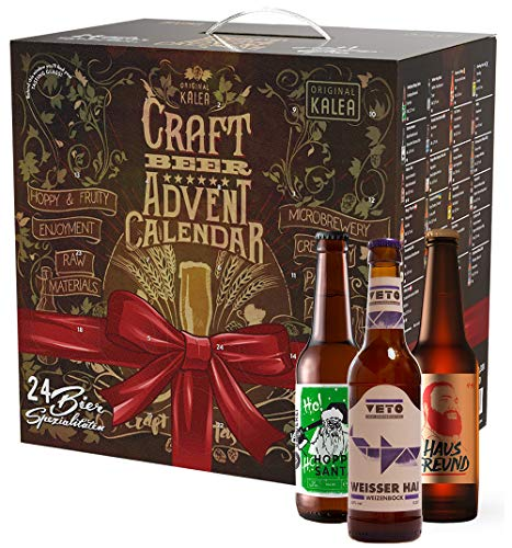 KALEA Craft Beer Adventskalender, DER Bieradventskalender für Craft Bier Fans mit limitierten Bieren, IPA und Pale Ales