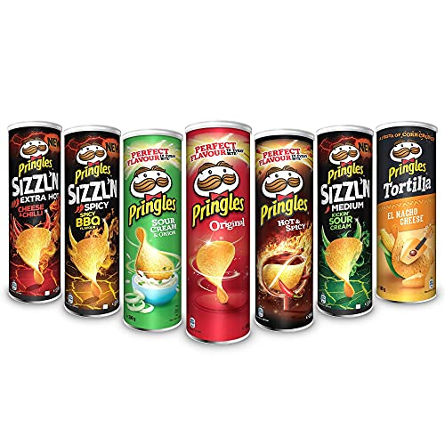 Party Mix | Stapel-Chips | 7 Dosen mit 7 verschiedenen Sorten (3x200g und 4x180g)