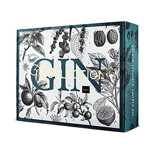 Gin Adventskalender 2021 von WAJOS | Cocktail & Gin Tonic Weihnachtskalender mit 24 Türchen voll mit Gin, Tonic Sirup & Likör | Gin Geschenk | Geschenkidee für Gin Fans & Cocktail Liebhaber