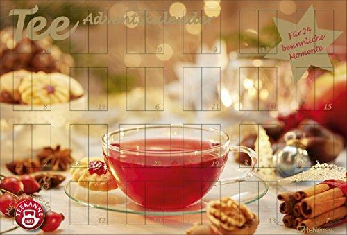 Tee-Adventskalender - Teekalender, Adventskalender, 25 Teekompositionen für eine genussvolle Adventszeit - 56 x 38 cm