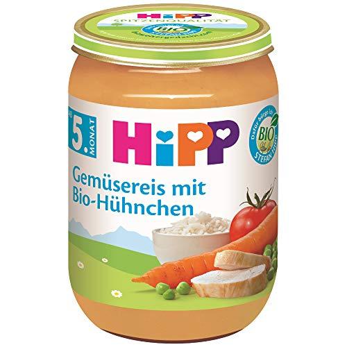HiPP Gemüsereis mit Bio-Hühnchen, 6er Pack (6 x 190 g)