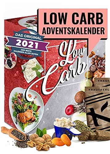 Low Carb Adventskalender 2021 I Kalender Adventszeit für kohlenhydrahtarme Ernährung I Geschenkidee für Fitnessbewusste I verschiedene Snacks ohne Kohlenhydrahte I für Erwachsene