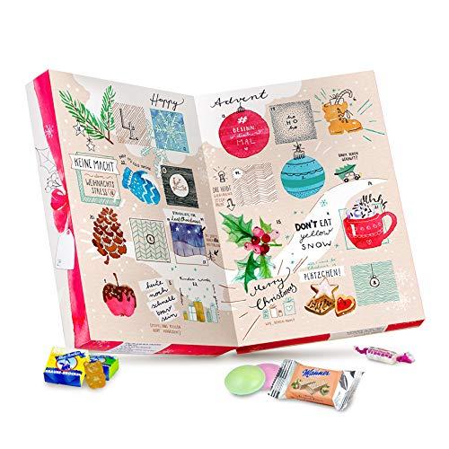 Der vegane Adventskalender, mit 24 veganen Süßigkeiten von Fruchtgummi, Brause, Karamell, Bonbons bis Keks - Adventskalender vegan 2019