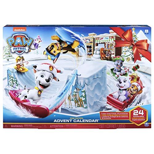 PAW PATROL 6052489 - Adventskalender 2019 mit Sammelfiguren und Winterlandschaft