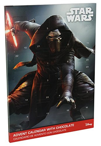 STAR WARS Design Adventskalender mit Schokolade, 1er Pack (1 x 65g)