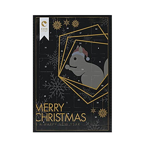 KERNenergie Premium XXL Adventskalender – Weihnachtskalender mit extravielen Nüssen, Kernen und Trockenfrüchten, 24 Advents-Überraschungen, Snack-Kalender für 2021, 24 x 100 g