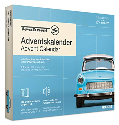 FRANZIS Trabant Adventskalender | In 24 Schritten zum Trabant 601 unterm Weihnachtsbaum | Ab 14 Jahren