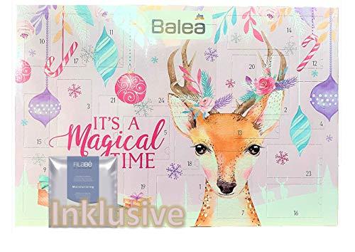 Balea Frauen Adventskalender 2020 - idealer Advent Kalender für die Frau, Beautykalender im Wert von 80 €, Kosmetikkalender mit 24 Pflege Produkten für Damen, Damenkalender Frauenkalender