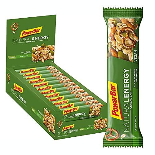 PowerBar Natural Energy Cereal Energy Sweet'n&Salty 24x40g - Veganer Kohlenhydrat Energie Riegel + Magnesium