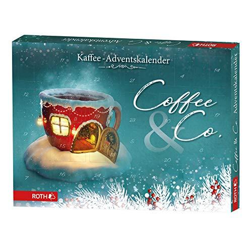 ROTH Kaffee-Adventskalender 'Coffee & Co.' gefüllt mit Kaffeegenuss und -zubehör, Kaffesorten-Kalender zu Vorweihnachtszeit