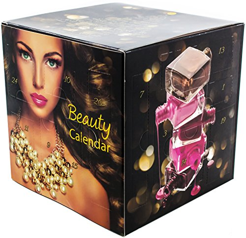 BLACK CUBE Beauty Adventskalender mit Schminke - Würfel Kosmetik MakeUp Adventskalender für Frauen