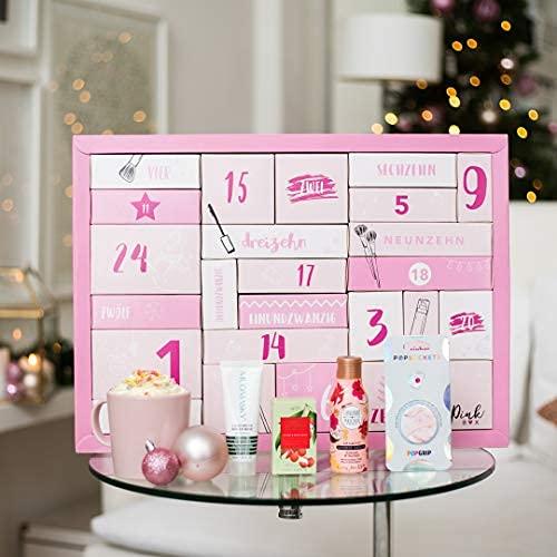 PinkBox Beauty Adventskalender 2020   Adventskalender für Frauen & Mädchen mit 24 tollen Beautyprodukte im Wert von über 180€