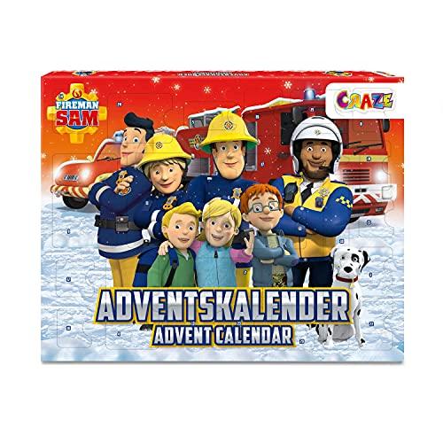 CRAZE Adventskalender Fireman Sam Weihnachtskalender 2021 Feuerwehrmann für Mädchen Jungen Kinder Spielzeugkalender mit Spielfiguren 24690